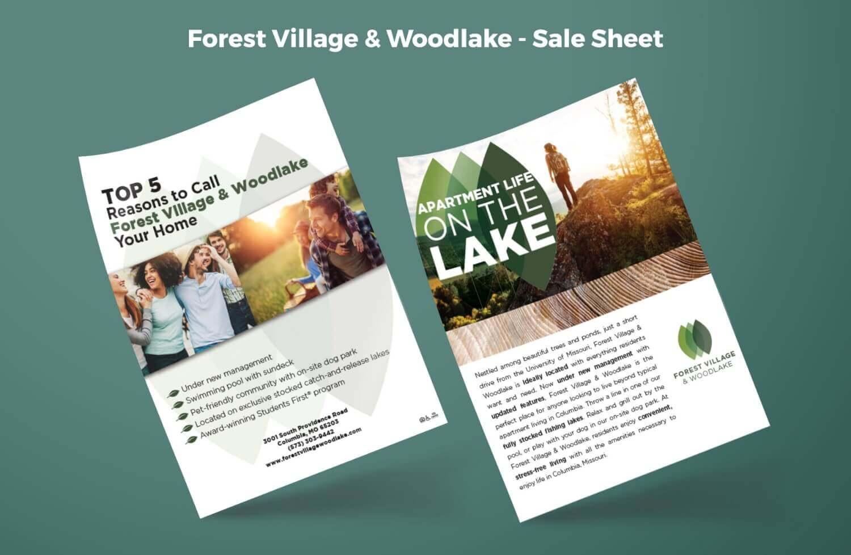 Forest Village & Woodlake Sales Sheet