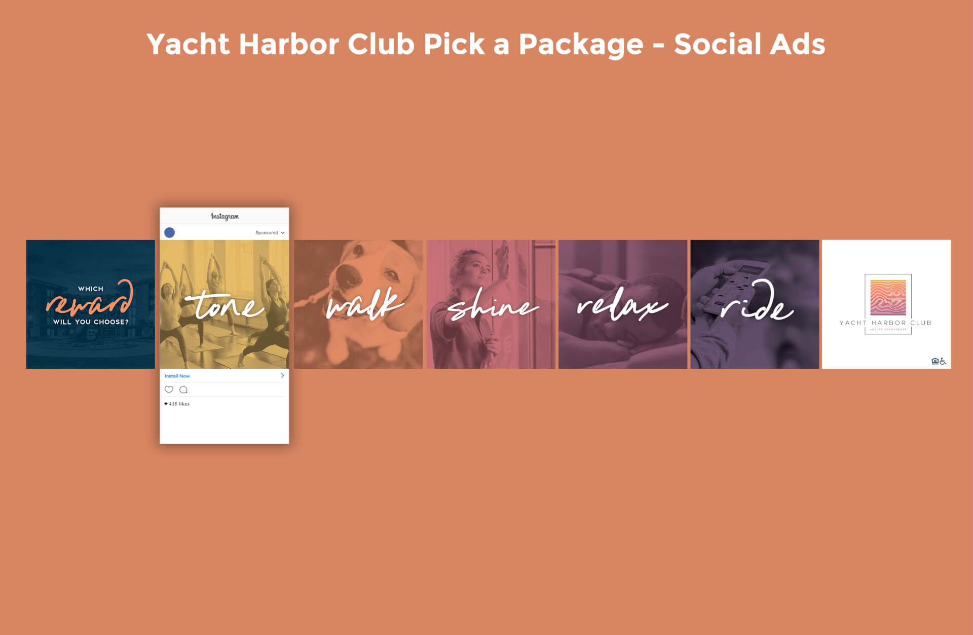 Yacht Harbor Club Pick-A-Package Social Ads Image