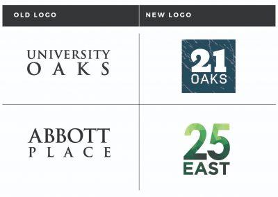 Rebrand: 21 Oaks and 25 East