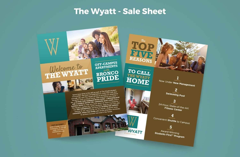The Wyatt Sales Sheet