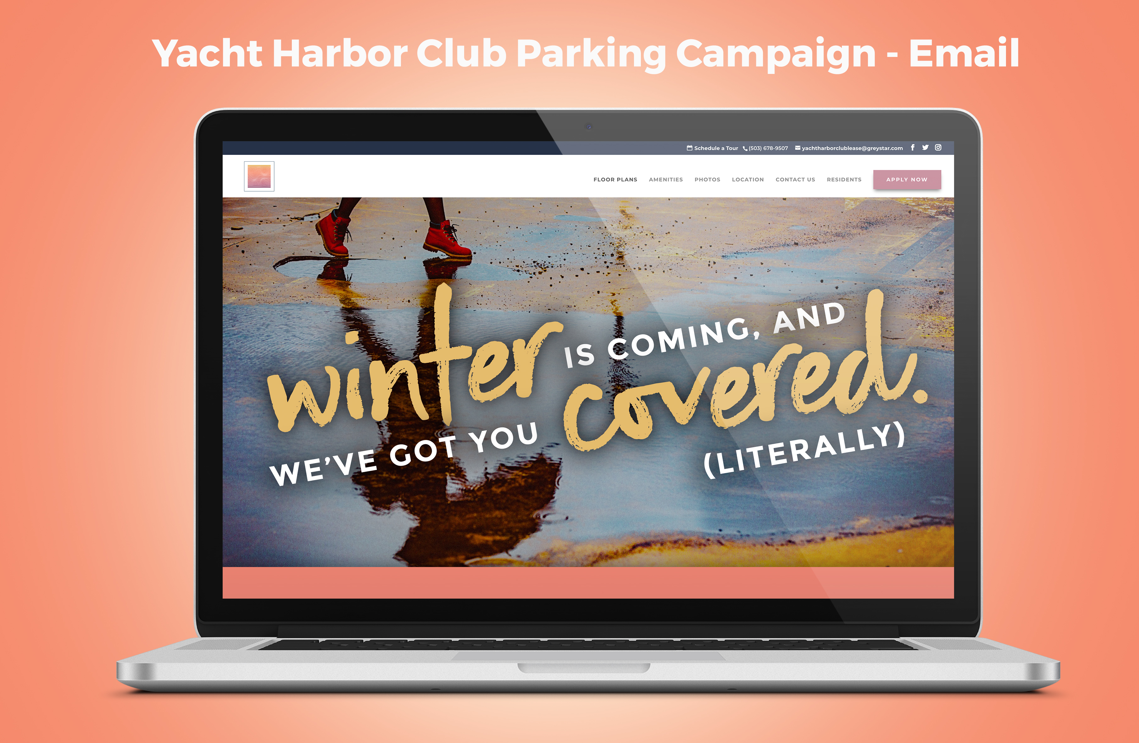 Yacht Harbor Club's Parking Campaign Email