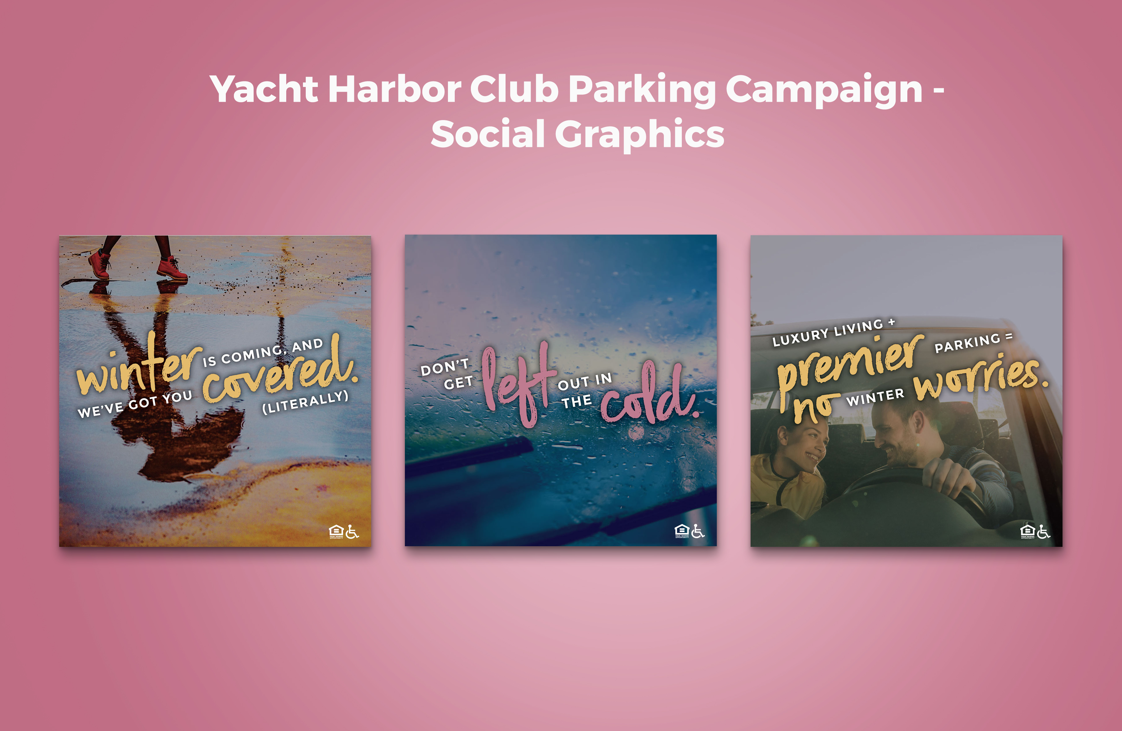 Yacht Harbor Club Parking Campaign Social Graphics