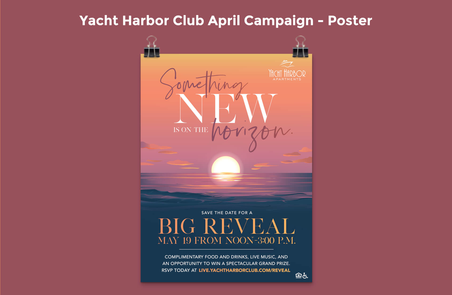 Yacht Harbor Club April Campaign Poster