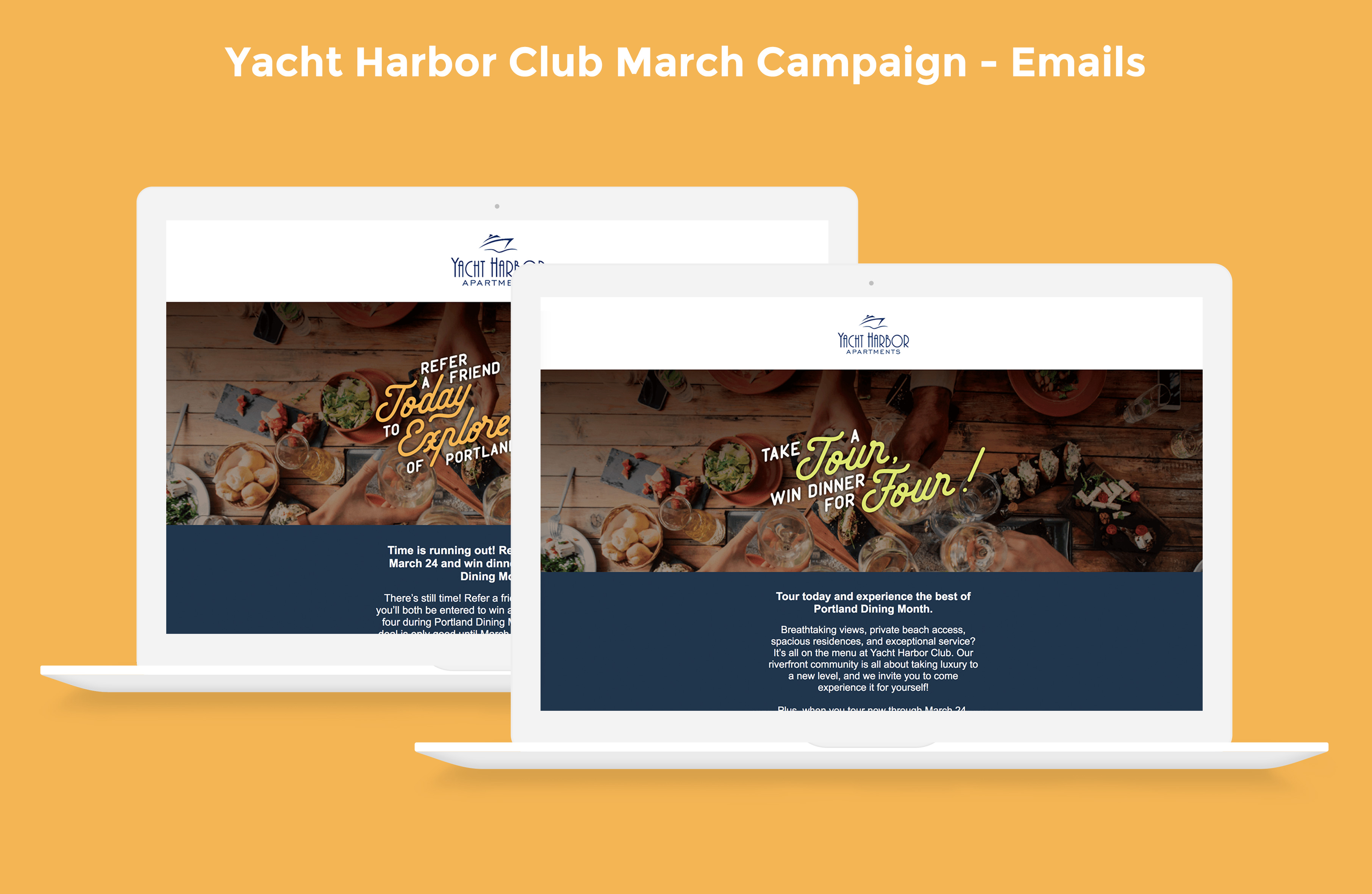 Yacht Harbor Club March Campaign Emails Image
