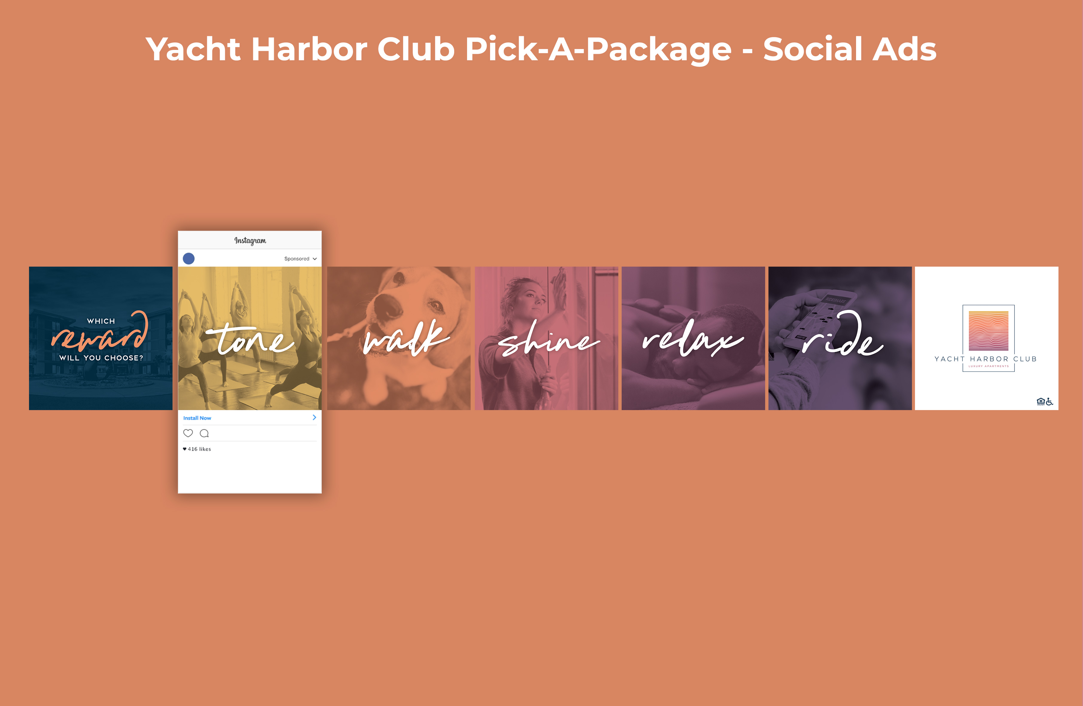 Yacht Harbor Club Pick-A-Package Social Ads Graphic