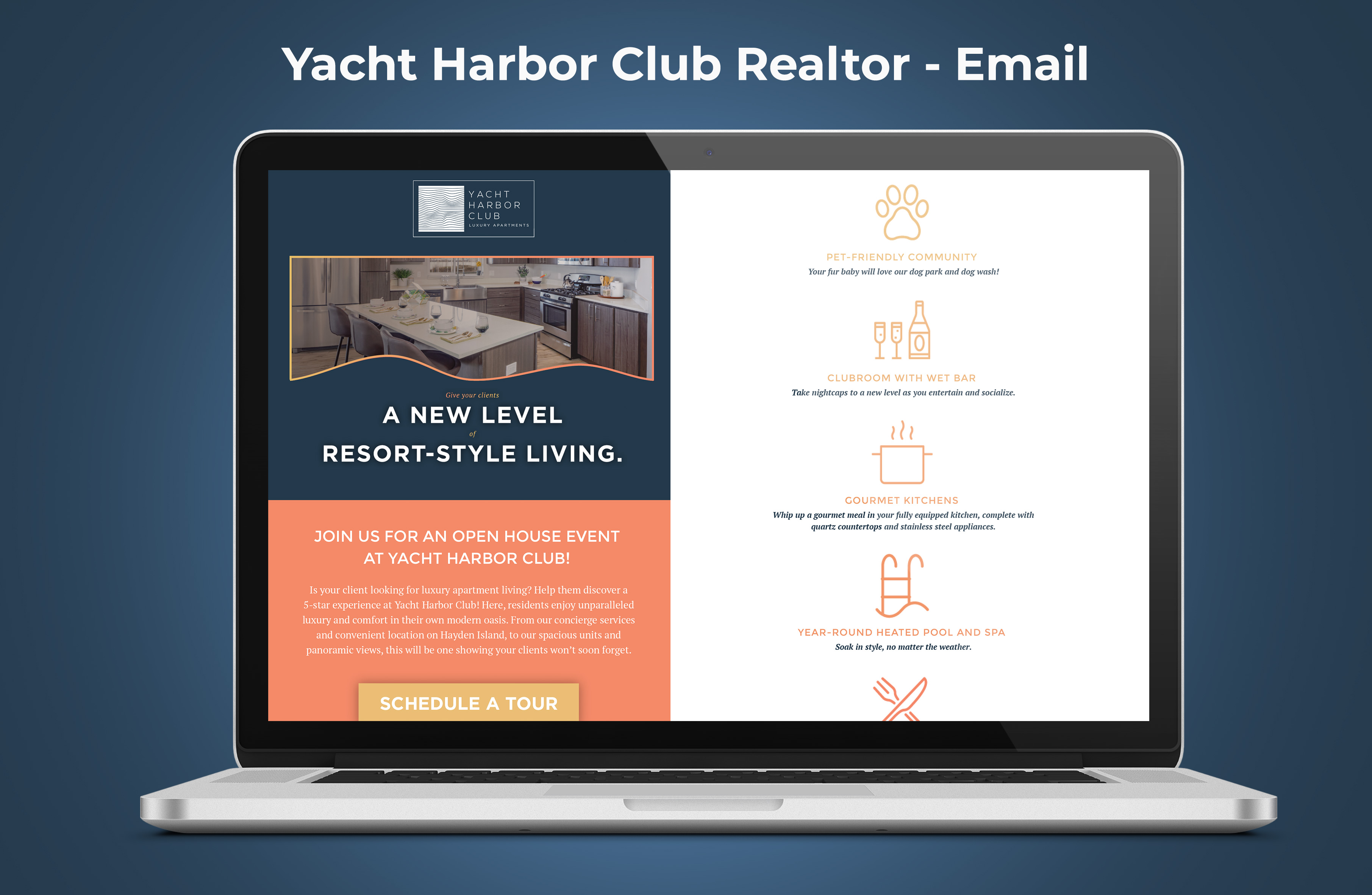 Yacht Harbor Club Realtor Email Graphic