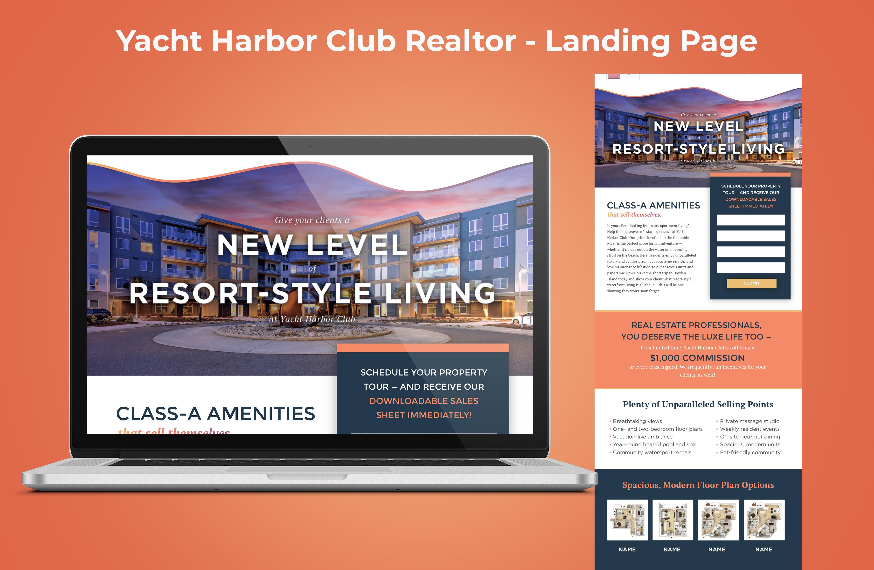 Yacht Harbor Club Realtor Landing Page Graphic