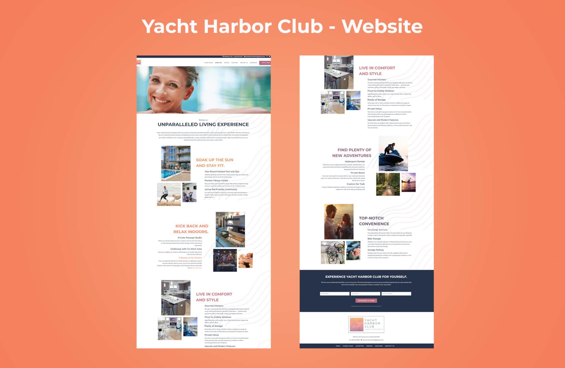 Homepage of Yacht Harbor Club's Website
