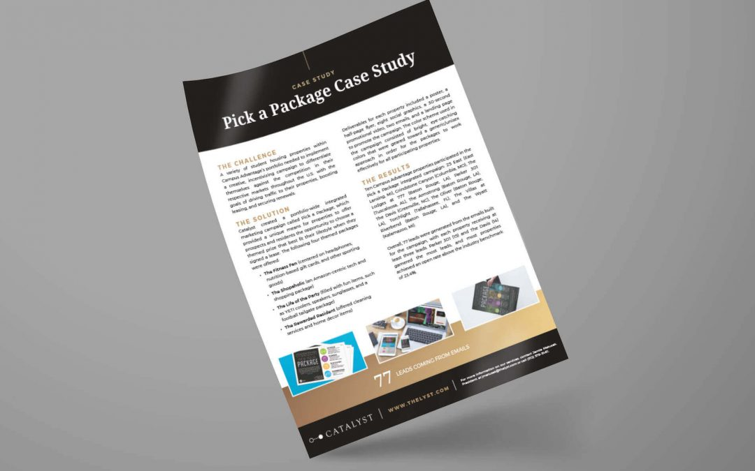 Case Study: Pick a Package
