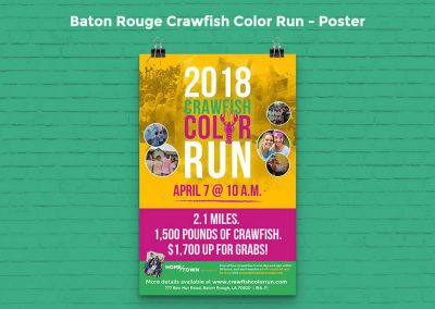 Baton Rouge Crawfish Color Run Campaign