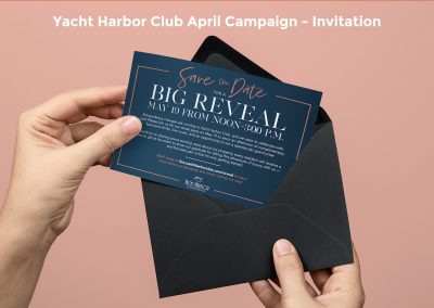 Yacht Harbor Club Brand Reveal Party