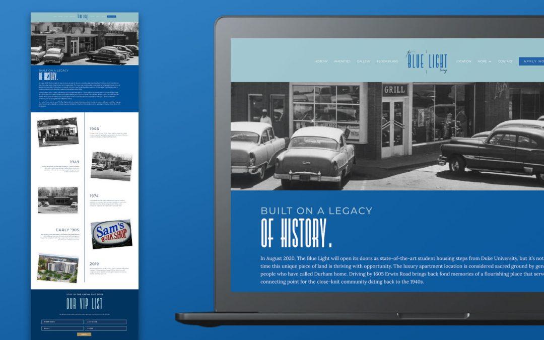 Case Study: The Blue Light Website